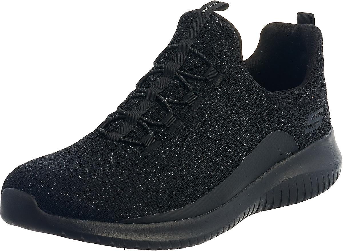 Кроссовки Skechers Ultra Flex12830-BBKНевероятно легкие, гибкие кроссовки с комфортным верхом, идеально сидящем на ноге - все это Ultra Flex от Skechers. Кроссовки имеют обширную область применения - это и тренировки в спортзале и активный отдых за городом. Верх обуви, имеет бесшовную конструкцию, обладает прекрасными паропроводящими качествами, что гарантирует дополнительный комфорт и вентиляцию во время занятий спортом. В обуви установлена стелька Air Cooled Memory Foam, заполненная специальной пеной, которая повторяет форму стопы. Также стелька имеет перфорацию, которая обеспечивает принудительную вентиляцию обуви. Подошва обуви, отличается малым весом, обладает прекрасной гибкостью и превосходно поглощает удары.