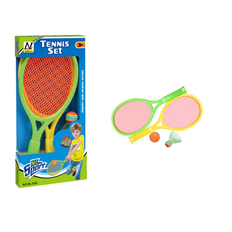 Набор для бадминтона ракеток детский Sport Set YT1680147 с воланом и мячом, желтый