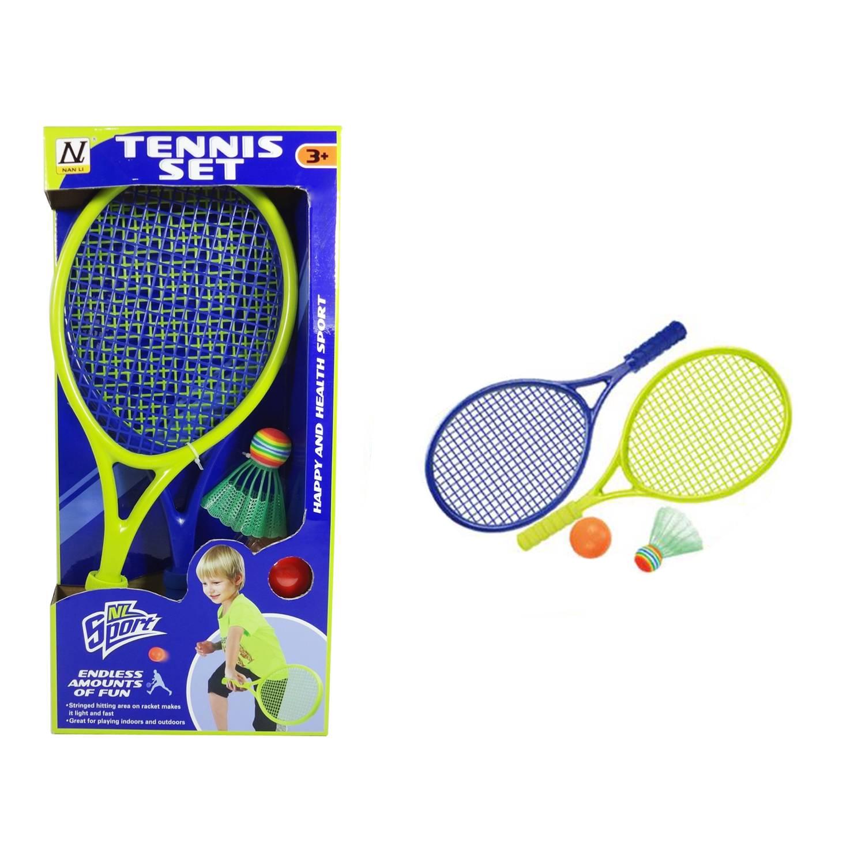 Набор для бадминтона ракеток детский Sport Set YT1687483 с воланом и мячом, синий