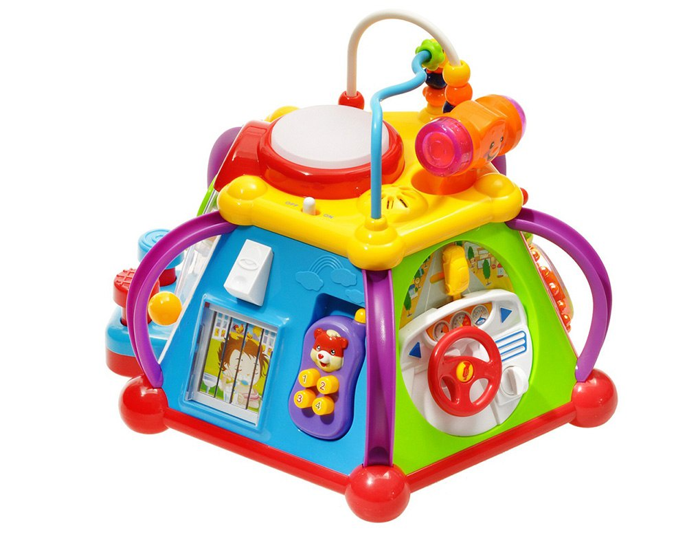 Развивающий центр S+S Toys Логика EQ80000R Бамбини со светом и звуком s s toys 00662603 пианино бамбини