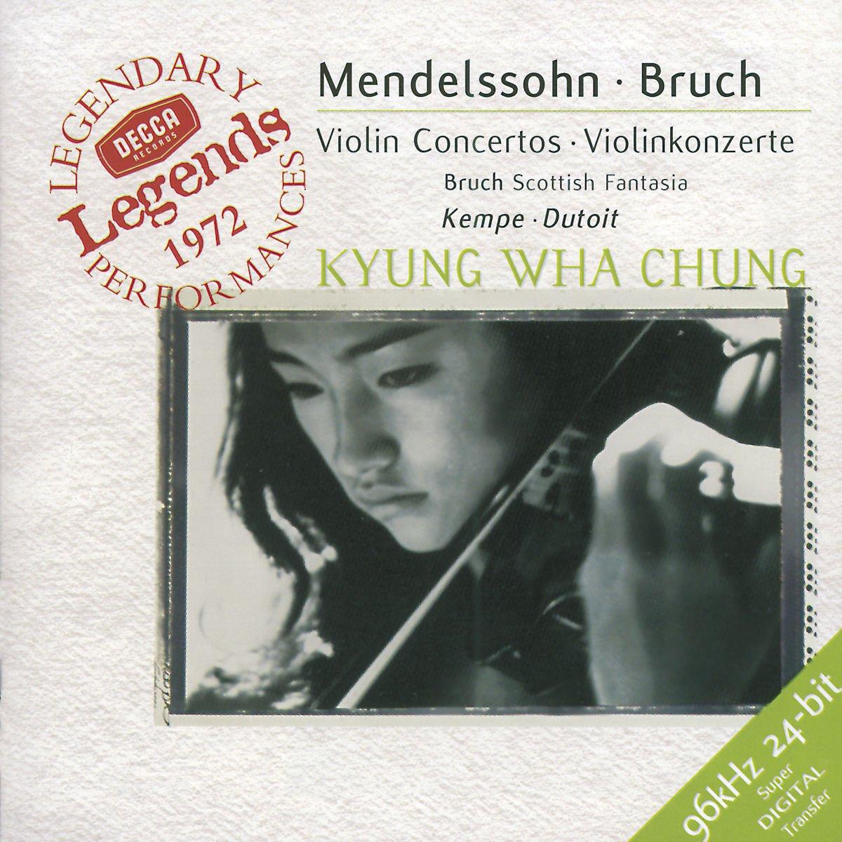 Kyung Wha Chung. Mendelssohn: Violin Concerto / Bruch: Violin Conce цена