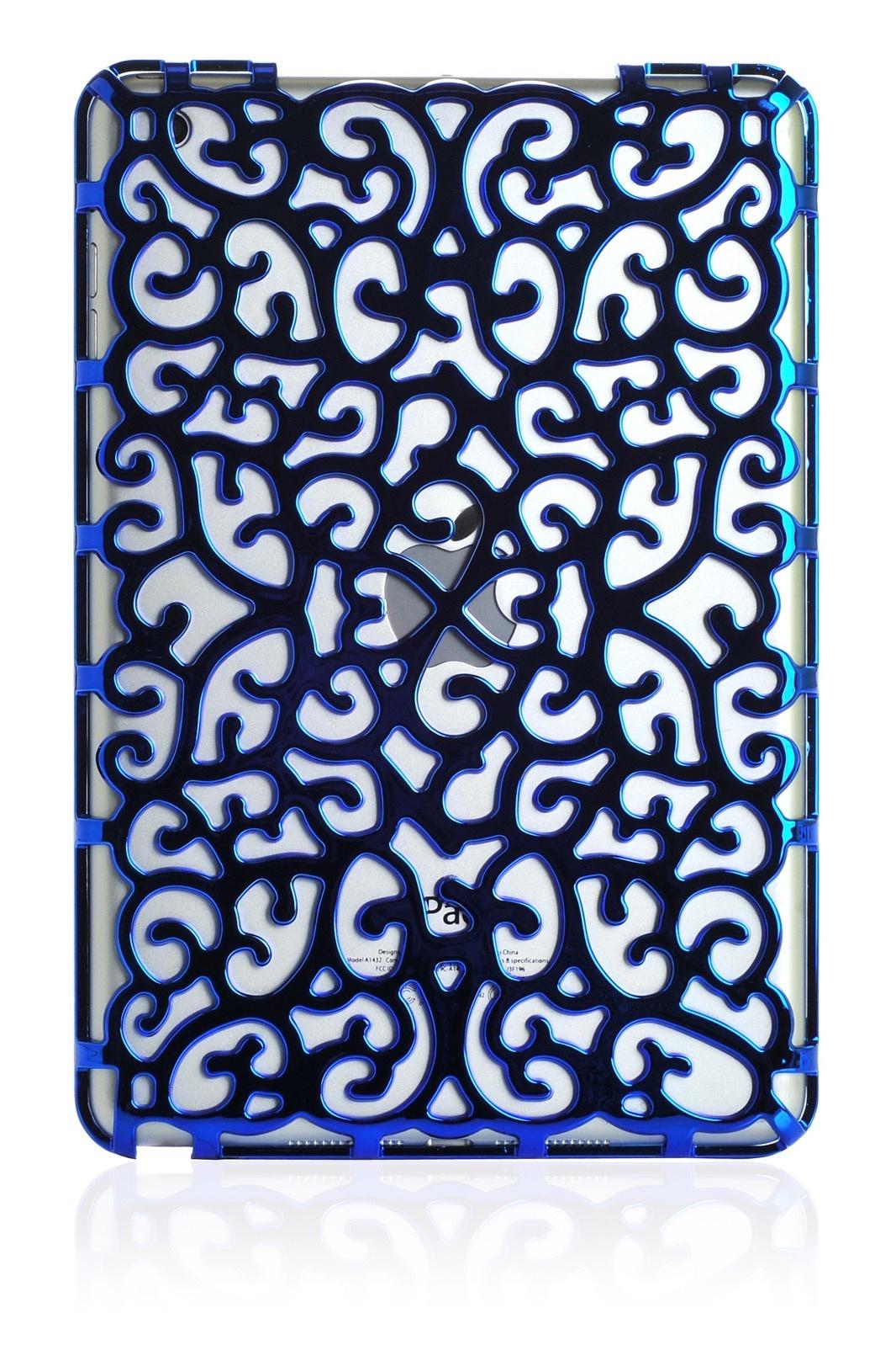 Чехол для планшета Gurdini накладка пластик узорный 410089 Apple iPad mini 1/2/3/4/5, синий
