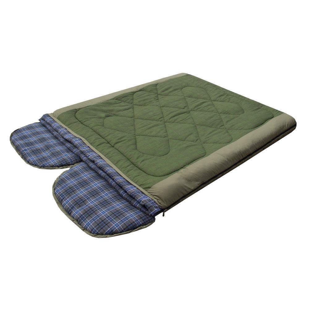 Спальный мешок Prival Double-Lux, хаки, олива, 220х160 см цена