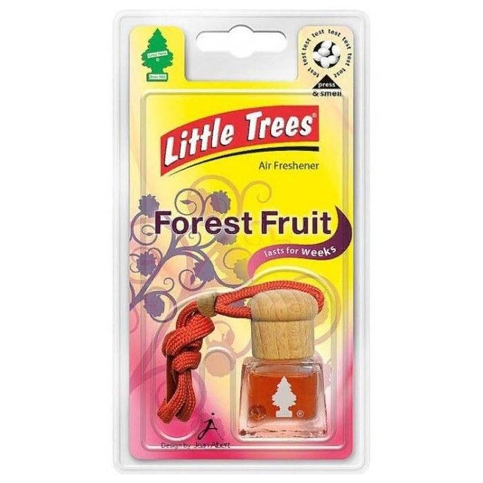 Автомобильный ароматизатор LITTLE TREES бутылочка, с деревянной пробкой, Лесные ягоды автомобильный ароматизатор golden snail flower air лесные ягоды