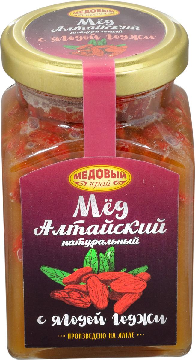 Мед алтайский Медовый край, с ягодой годжи, 320 г