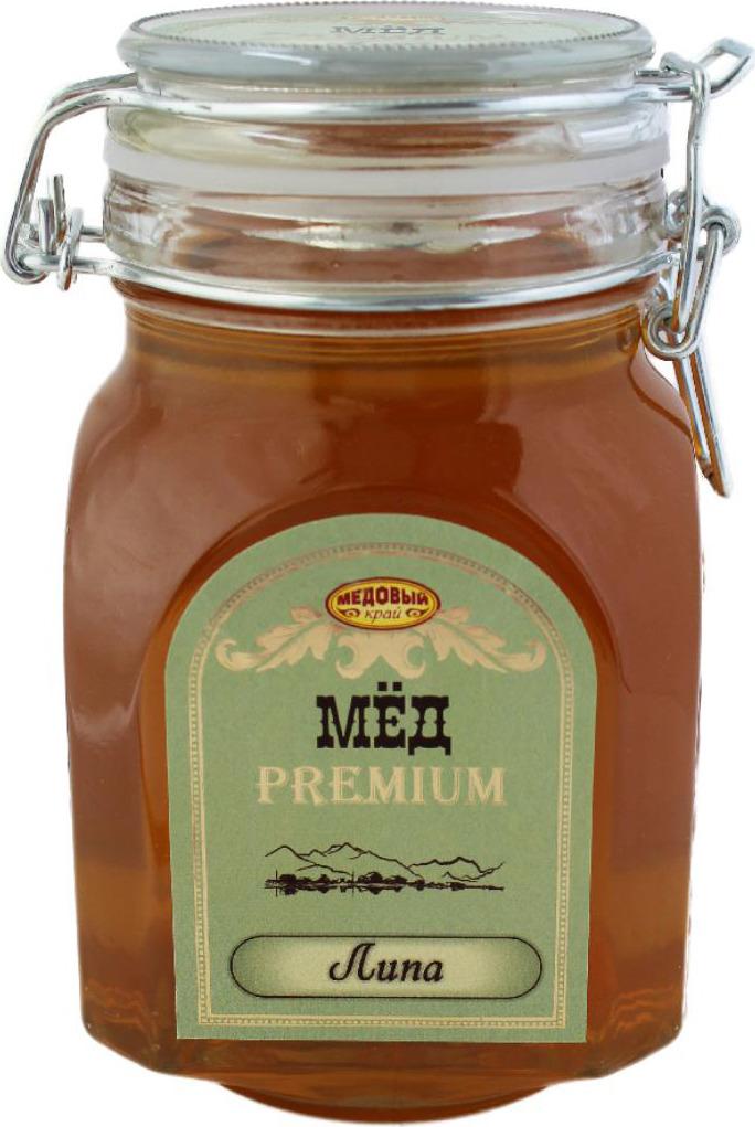 Мед Медовый край Липовый, 1 кг берестов мед башкирхан липовый 30 г