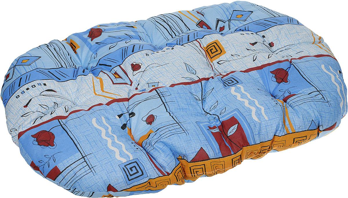 Лежак для животных ЗооМарк Перина №4 Клетка, ЛП-4КС, синий, 80 х 58 х 9 см лежак для животных зоомарк перина грета 4 лг 4кж синий желтый 80 х 58 х 9 см