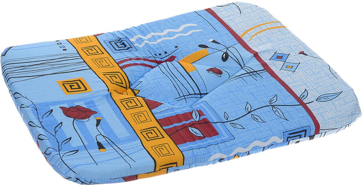 Лежак для животных ЗооМарк Подстилка №3 Стамбул, П-03СС, синий, 38 х 54 х 3,5 см лежак для животных зоомарк самобранка цвет синий 74 х 55 х 10 см