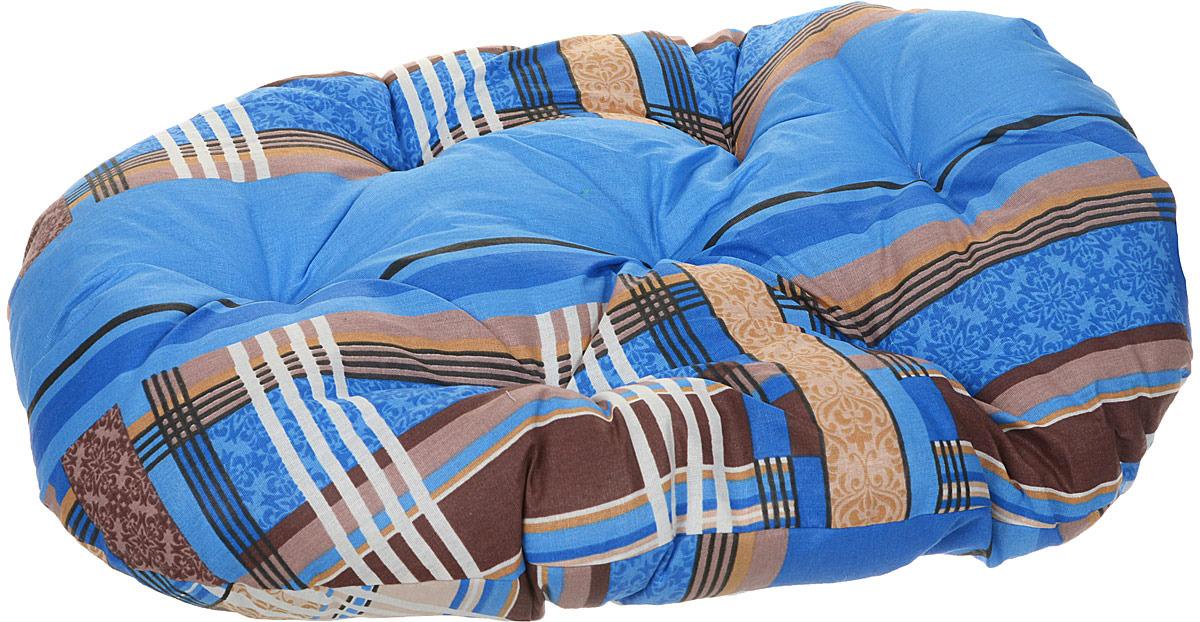 Лежак для животных ЗооМарк Перина №2 Стамбул, ЛП-2СС, синий, 60 х 46 х 8 см лежак для животных зоомарк самобранка цвет синий 74 х 55 х 10 см