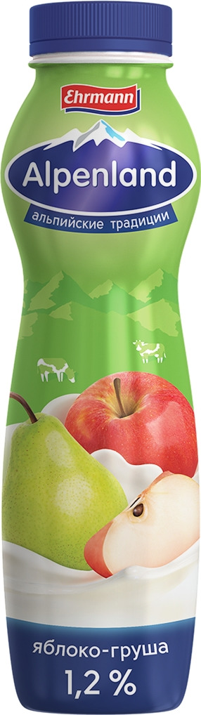 Йогуртный продукт Alpenland, яблоко и груша, 1,2%, 290 г