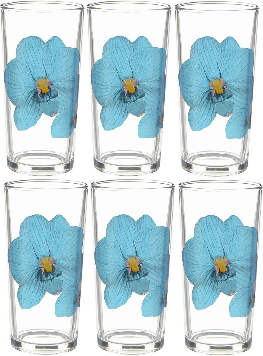 Фото - Набор стаканов ОСЗ Ода Орхидея синяя, 230 мл, 6 шт [супермаркет] jingdong геб scybe фил приблизительно круглая чашка установлена в вертикальном положении стеклянной чашки 290мла 6 z