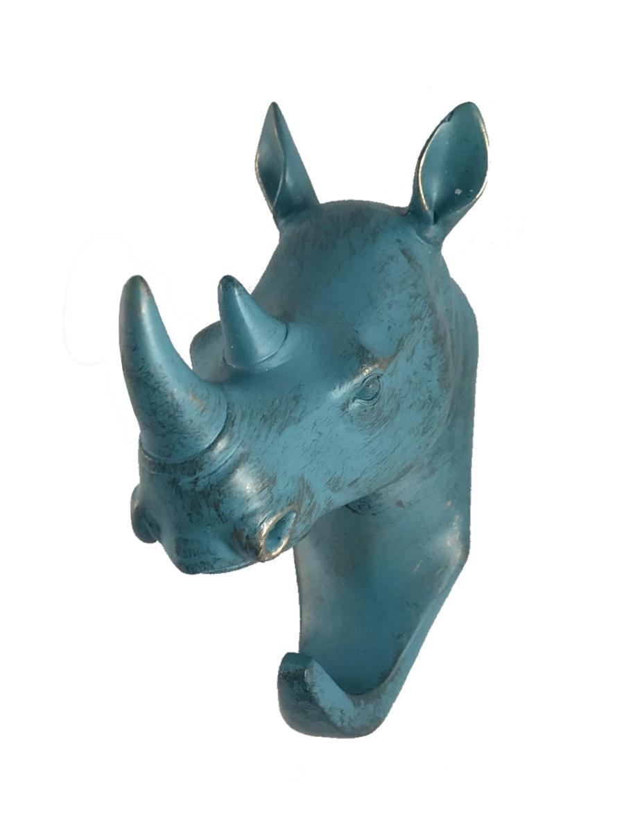 Вешалка настенная Terra Design Rhino hanger, бронза, светло-зеленый цена