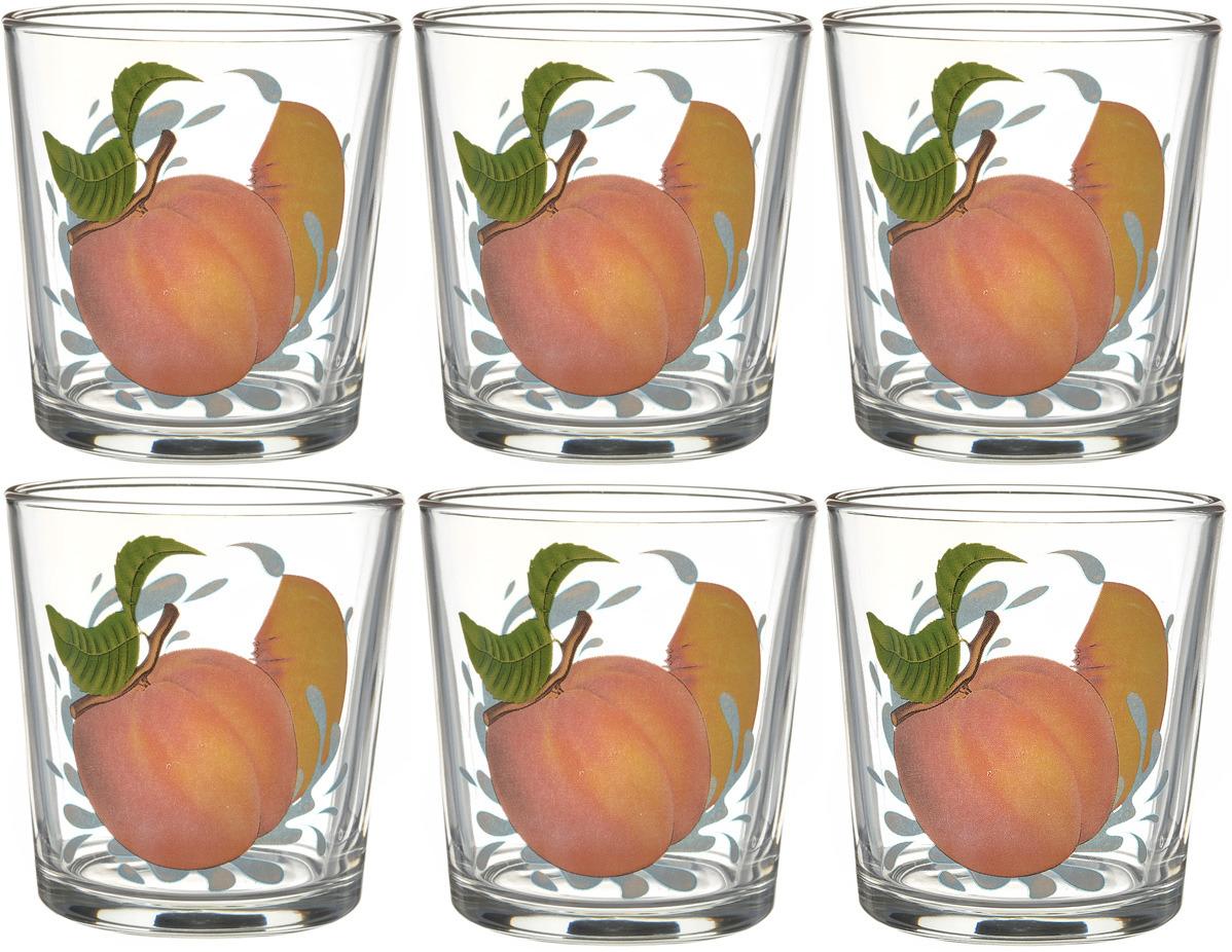 Фото - Набор стаканов ОСЗ Ода Персик К, 250 мл, 6 шт [супермаркет] jingdong геб scybe фил приблизительно круглая чашка установлена в вертикальном положении стеклянной чашки 290мла 6 z