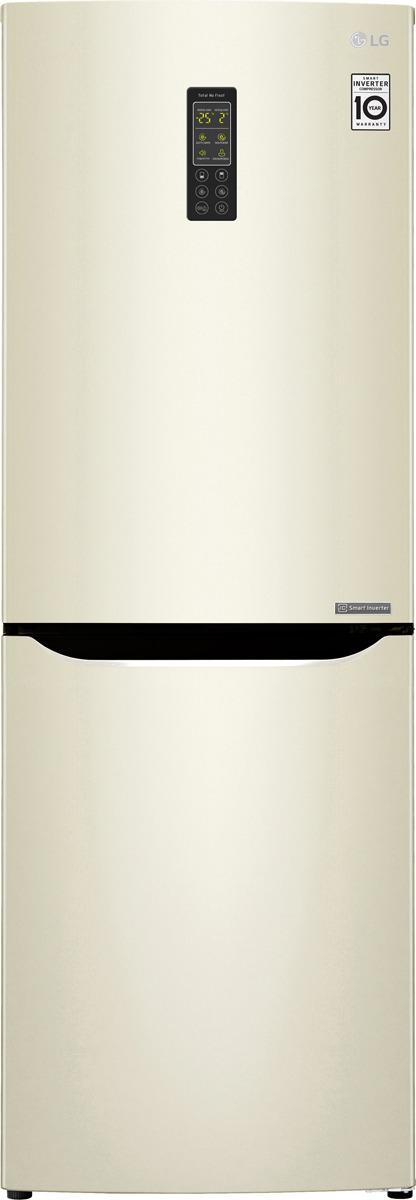Холодильник LG GA-B379SYUL, бежевый