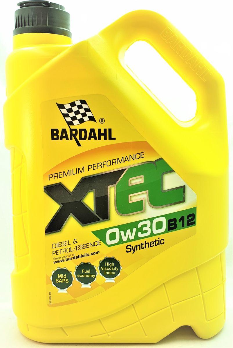 Моторное масло Bardahl XTEC, синтетическое, 0W-30 B12, 5 л