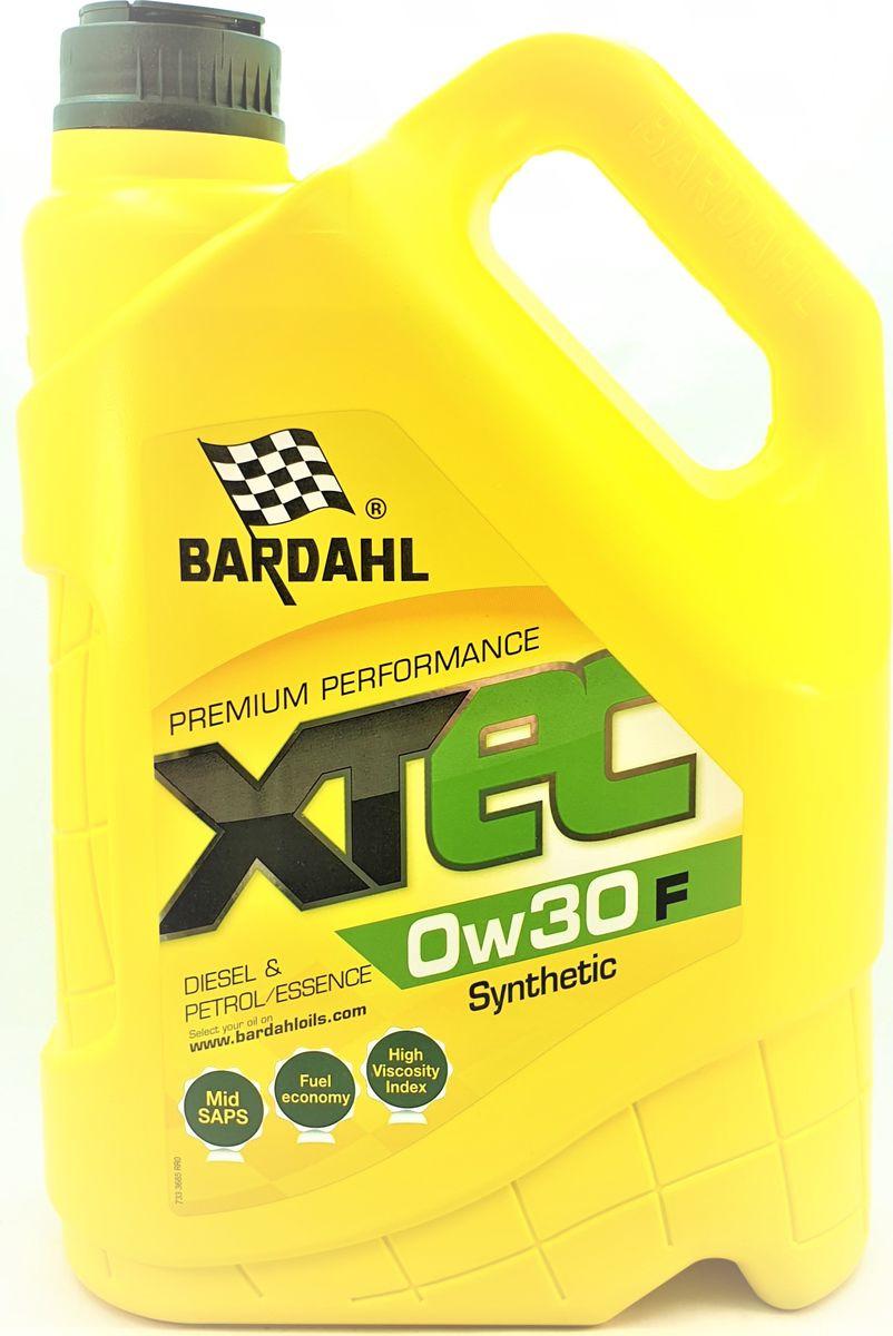 Моторное масло Bardahl XTEC, синтетическое, 0W-30 F, 5 л