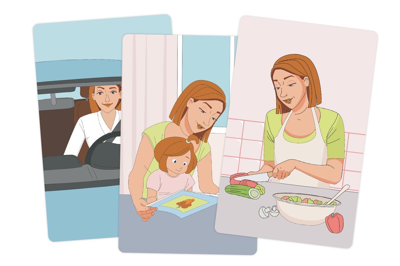 Обучающая игра Мерсибо Обучающие карточки Мамин день
