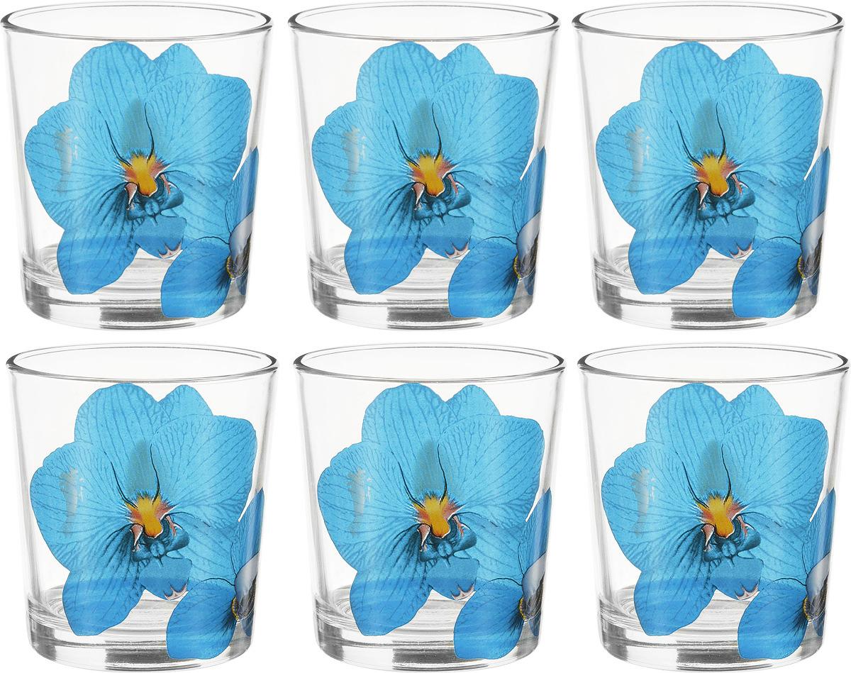 Фото - Набор стаканов ОСЗ Ода Орхидея синяя, 250 мл, 6 шт [супермаркет] jingdong геб scybe фил приблизительно круглая чашка установлена в вертикальном положении стеклянной чашки 290мла 6 z