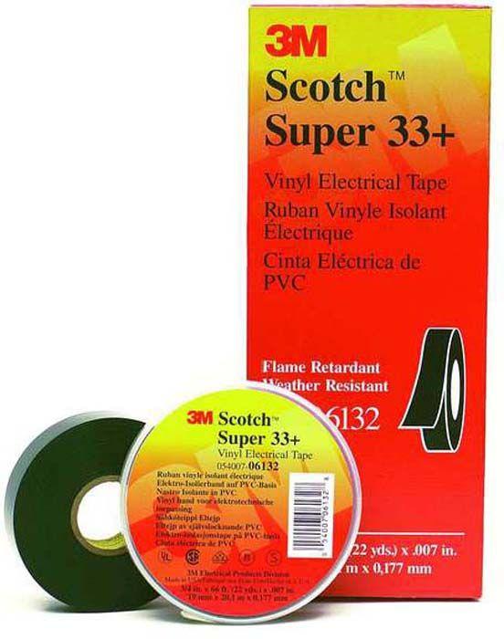 цена Изоляционная лента Scotch Super 33+, черный в интернет-магазинах