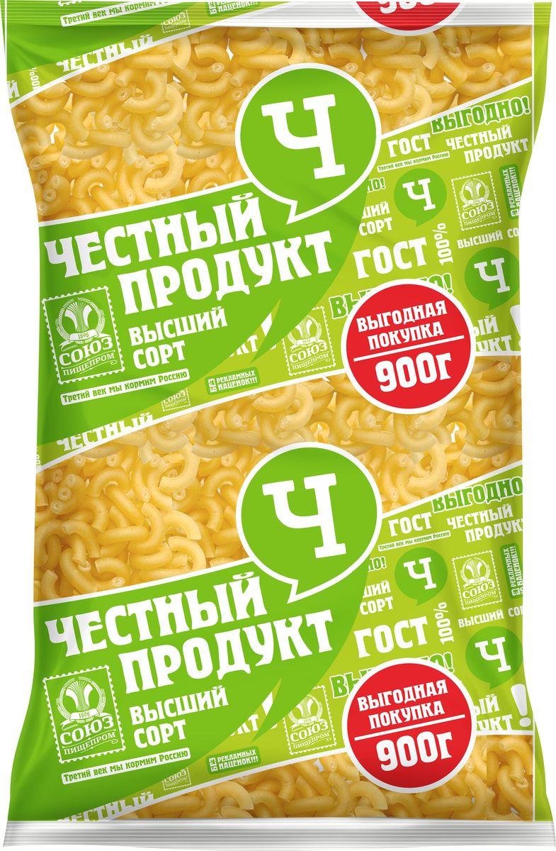 "Макароны Честный продукт ""Ригатоны"", 900 г"