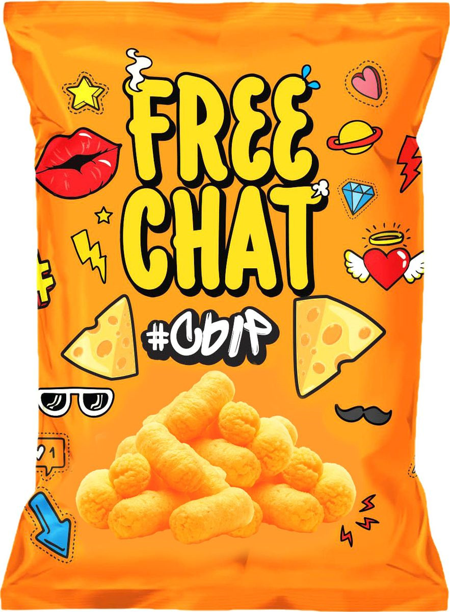 Снэки Free Chat, со вкусом сыра, 50 г grizzon соломка картофельная со вкусом сыра 80 г