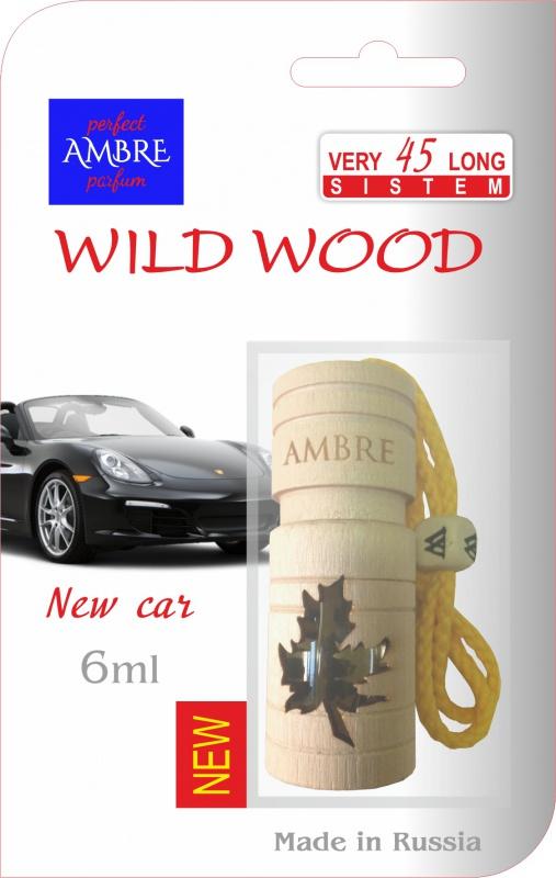 Автомобильный ароматизатор RASH подвесной в натуральном дереве WILD WOOD NEW CAR deliss автомобильный подвесной ароматизатор саше harmony 7 8г