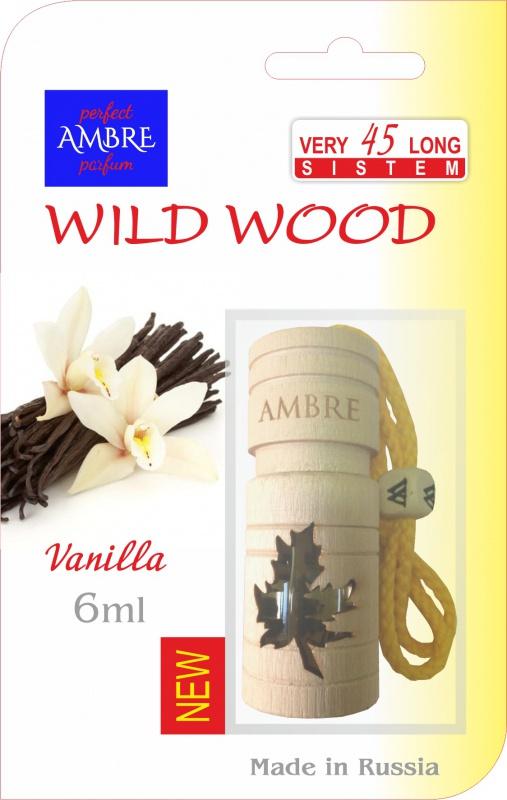Автомобильный ароматизатор RASH подвесной в натуральном дереве WILD WOOD VANILLA PARADISE deliss автомобильный подвесной ароматизатор саше harmony 7 8г