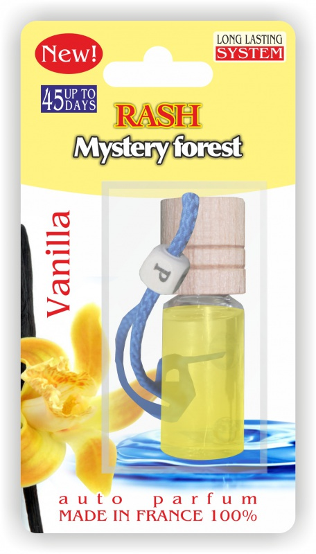 Автомобильный ароматизатор RASH подвесной с деревянной буковой крышкой Mystery forest VANILLA ароматизатор эрвик