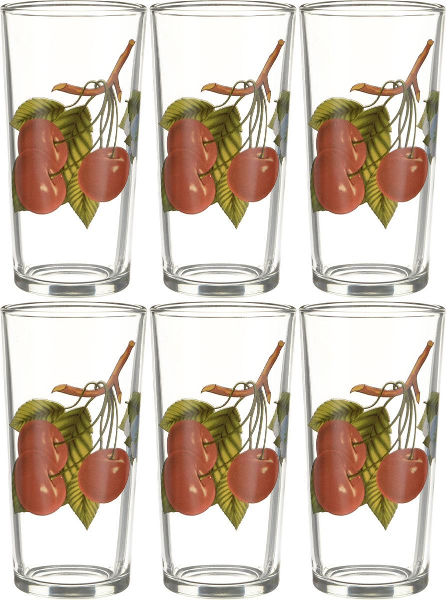 Фото - Набор стаканов ОСЗ Ода Вишня, 230 мл, 6 шт [супермаркет] jingdong геб scybe фил приблизительно круглая чашка установлена в вертикальном положении стеклянной чашки 290мла 6 z