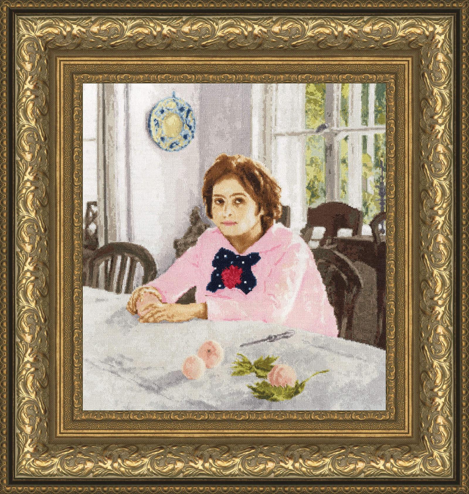 Набор для вышивания Золотое Руно Девочка с персиками набор для вышивания золотое руно замечательное лето