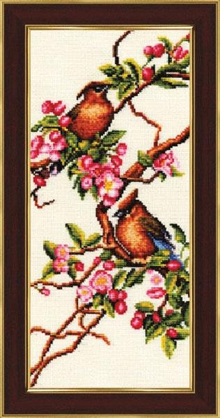 Набор для вышивания Золотое Руно Яблоня в цвету набор для вышивания золотое руно мамина помада