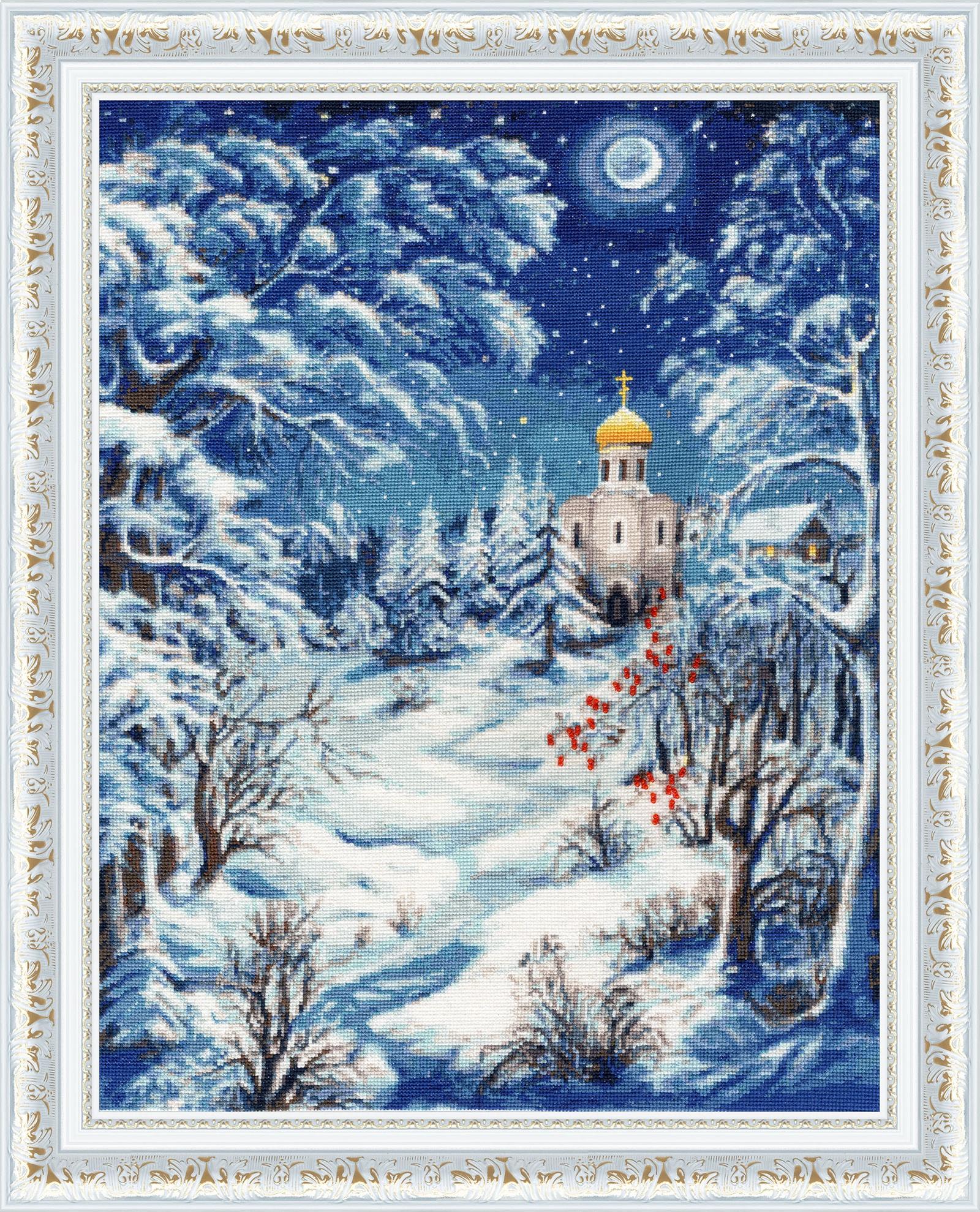 Набор для вышивания Золотое Руно Волшебница-зима набор для вышивания золотое руно замечательное лето
