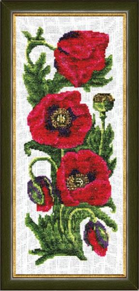 Набор для вышивания Золотое Руно Маки набор для вышивания золотое руно мамина помада