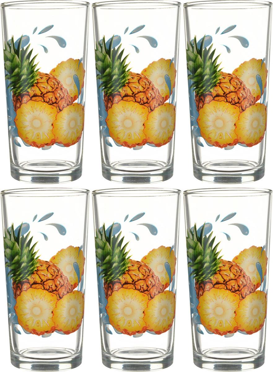Фото - Набор стаканов ОСЗ Ода Ананас К, 230 мл, 6 шт [супермаркет] jingdong геб scybe фил приблизительно круглая чашка установлена в вертикальном положении стеклянной чашки 290мла 6 z
