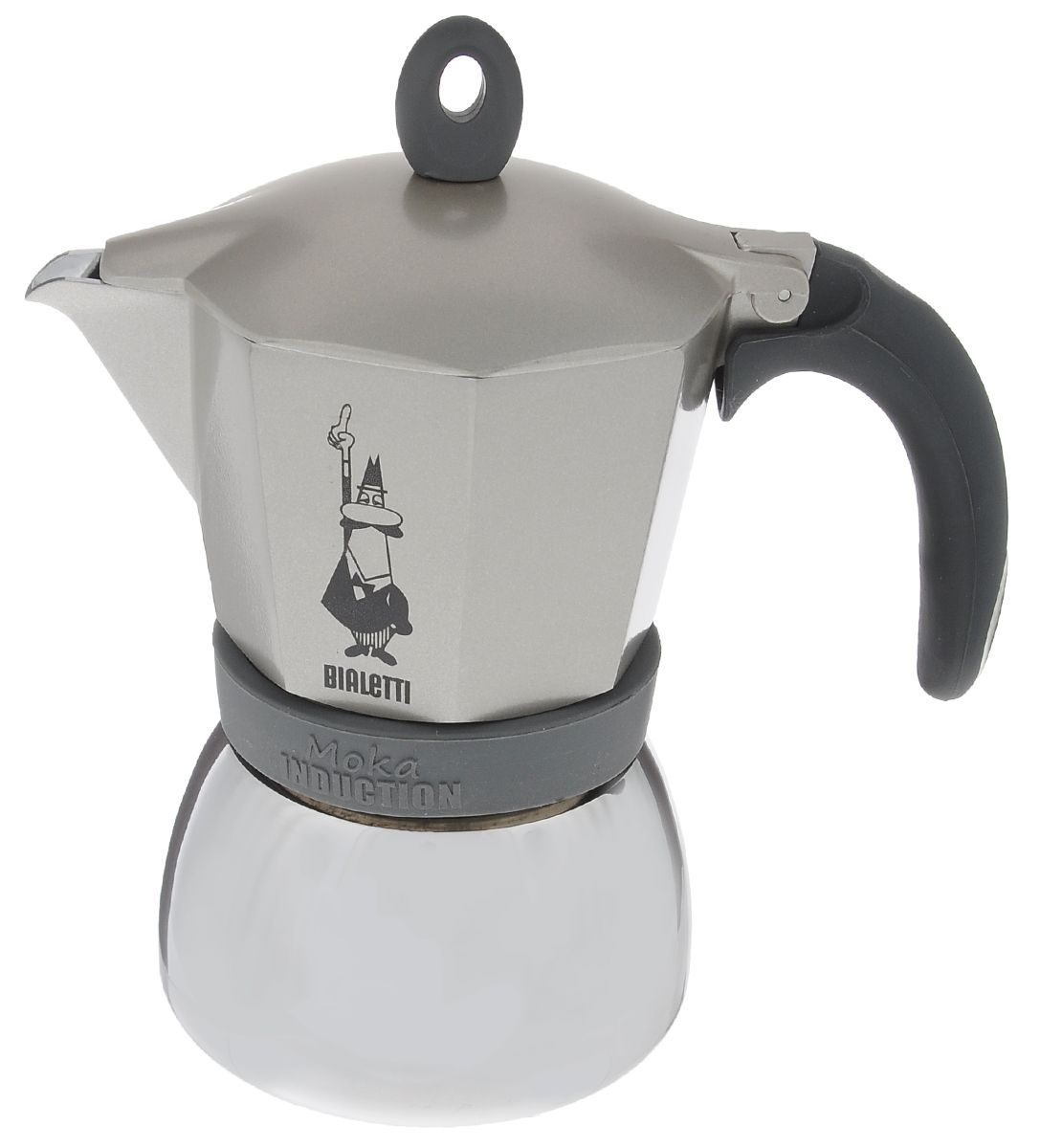 Гейзерная кофеварка Bialetti Moka Induction, на 6 чашек, серый цена