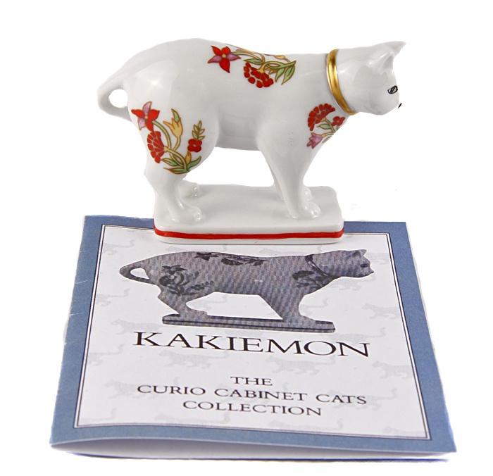Статуэтка Кошка в стиле какиэмон. Фарфор, роспись. The Franklin Mint, США, конец XX века. статуэтка franklin mint кошка серый