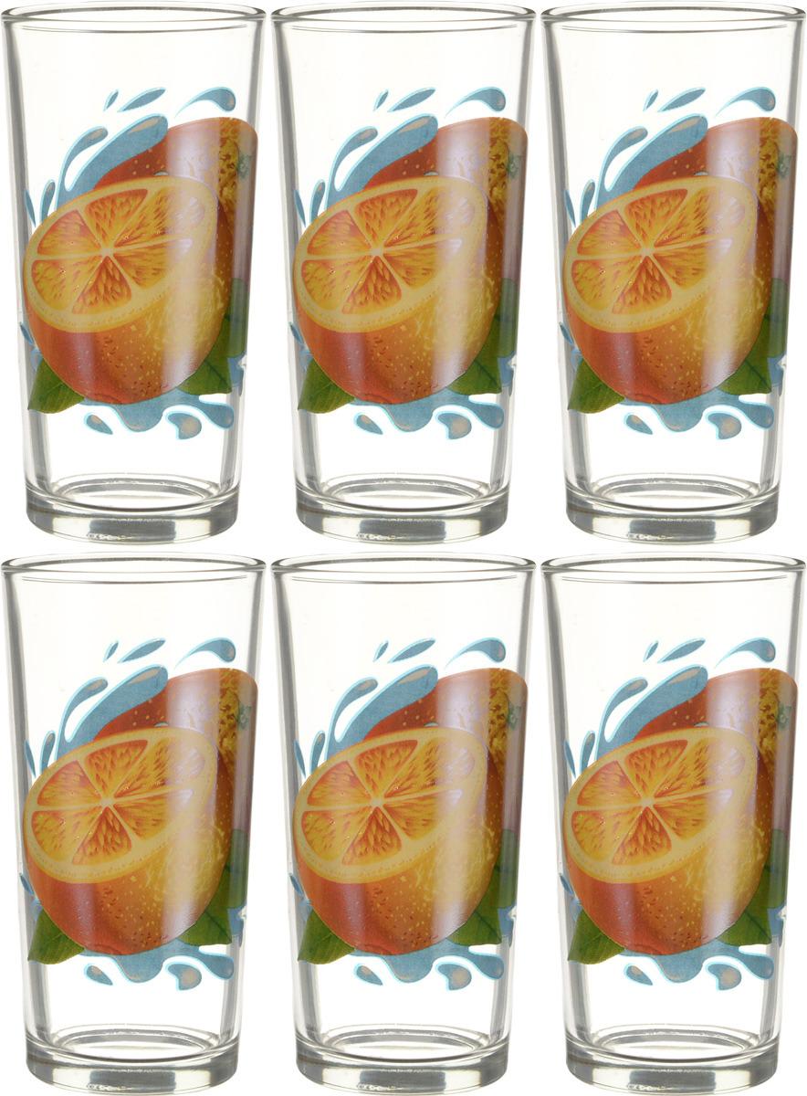 Фото - Набор стаканов ОСЗ Ода Апельсин К, 230 мл, 6 шт [супермаркет] jingdong геб scybe фил приблизительно круглая чашка установлена в вертикальном положении стеклянной чашки 290мла 6 z