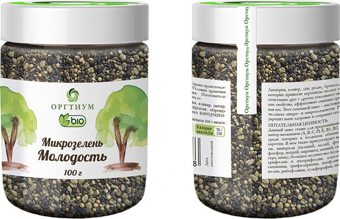 Смесь семян Оргтиум Микс Молодость, 100 г витамины solgar кальций магний цинк 100 таблеток
