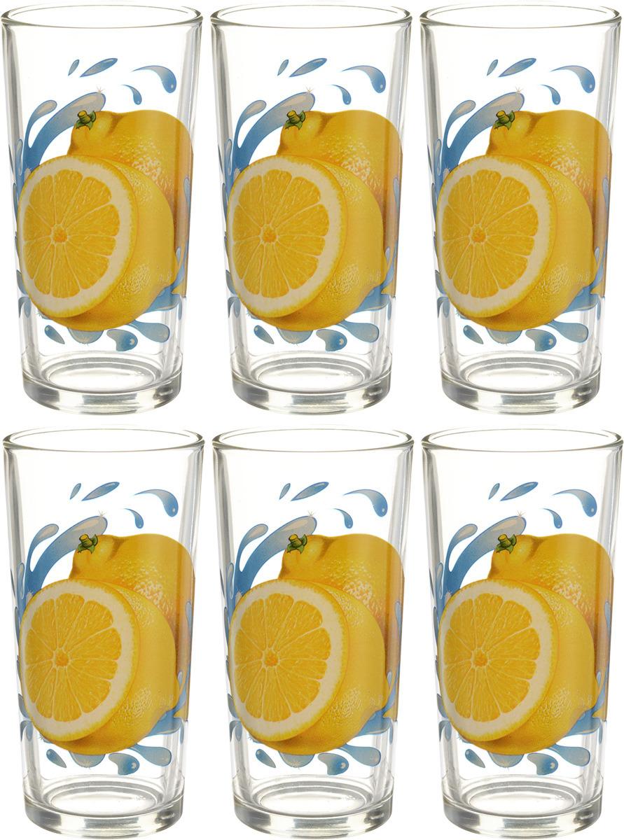 Фото - Набор стаканов ОСЗ Ода Лимон К, 230 мл, 6 шт [супермаркет] jingdong геб scybe фил приблизительно круглая чашка установлена в вертикальном положении стеклянной чашки 290мла 6 z