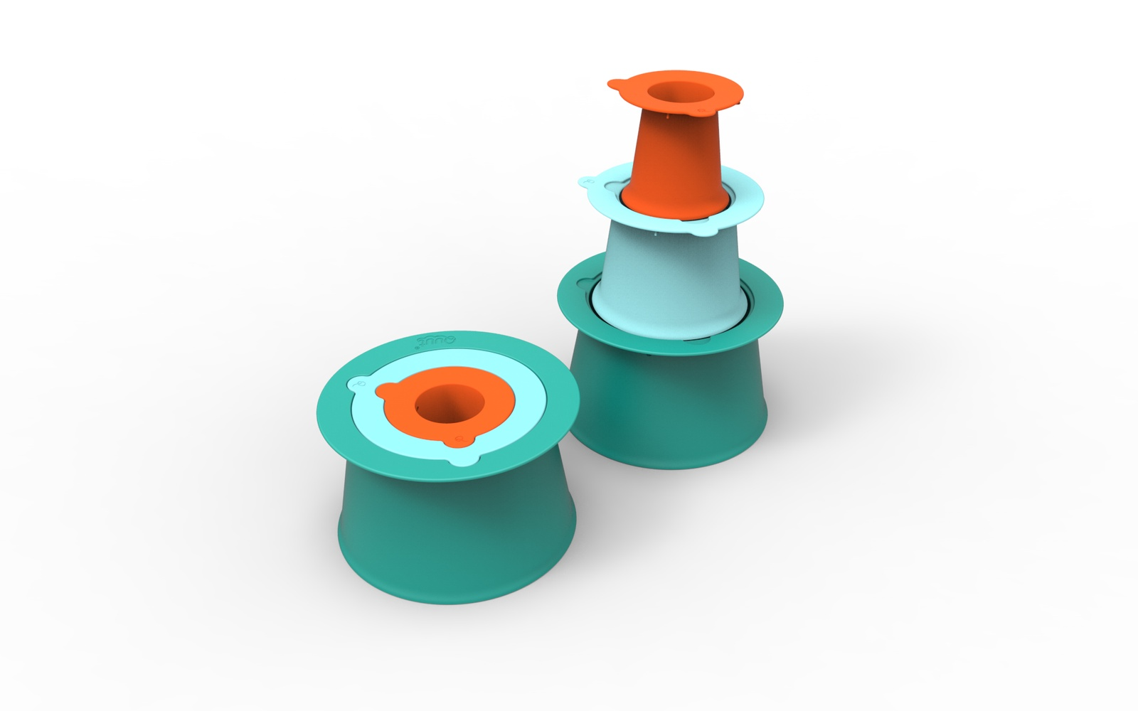 Игрушка для песочницы Quut 171393 зеленый, синий, оранжевый цена