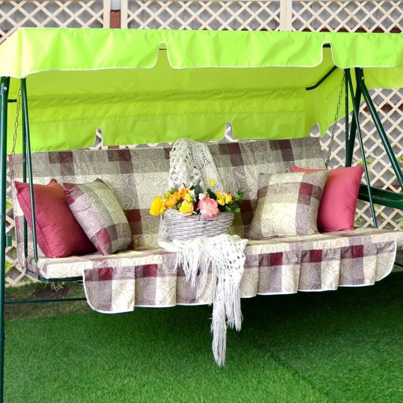 Матрас для качелей КЛАССИКА + 2 подушки, Качели и дача, 170х55 см