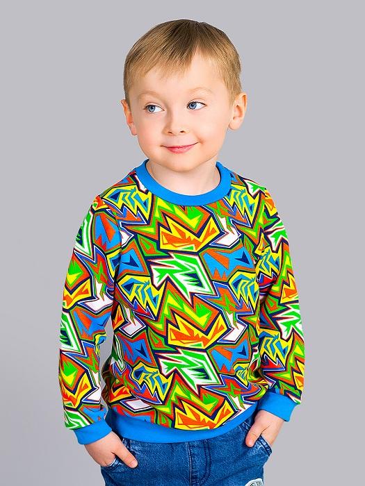 Свитшот Веселый малыш толстовка для мальчика веселый малыш камуфляж цвет хаки 164 140 саф размер 110