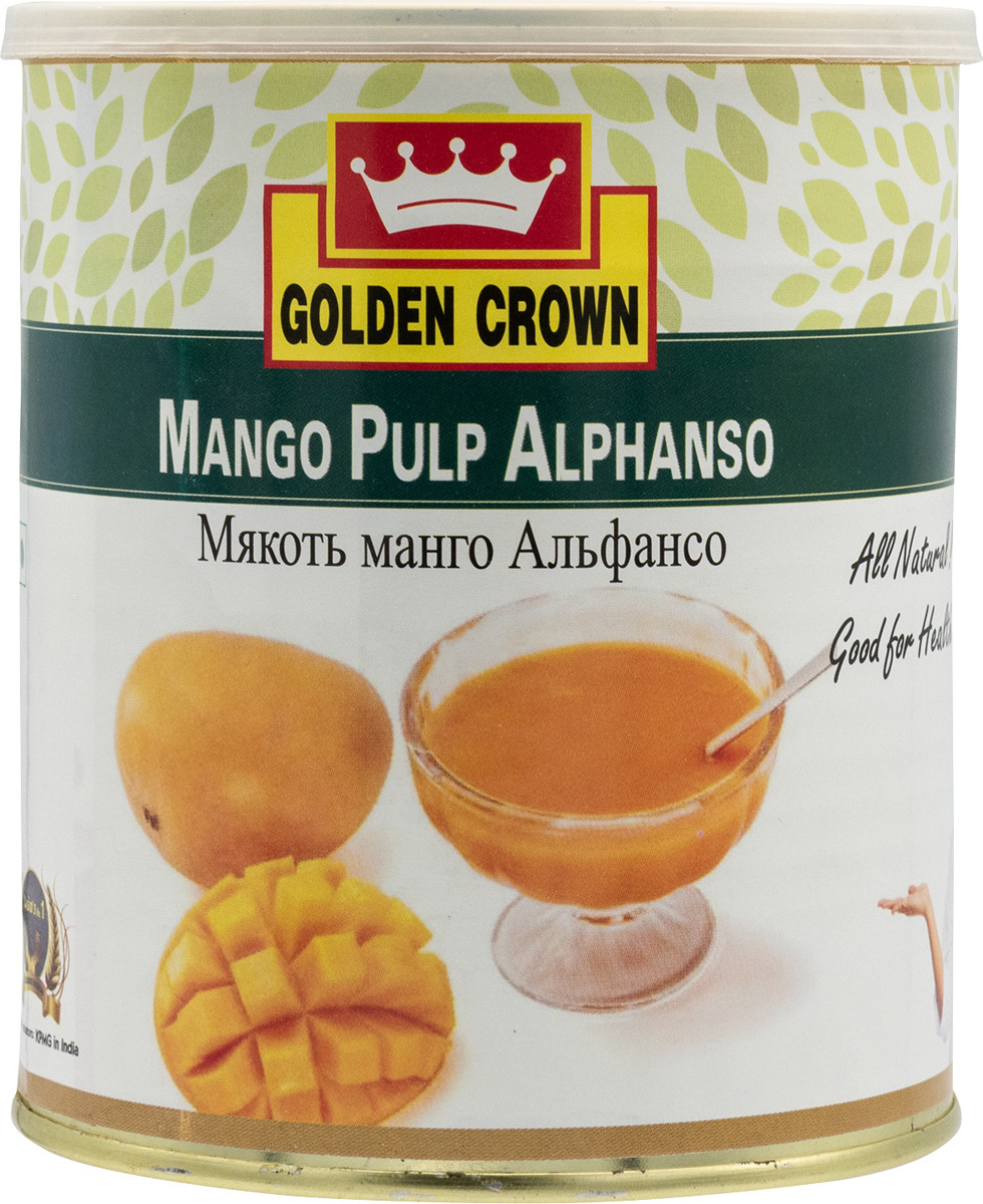 Мякоть манго Golden Crown Альфансо, 840 г round neck long sleeve 3d golden chain and crown lion print sweatshirt