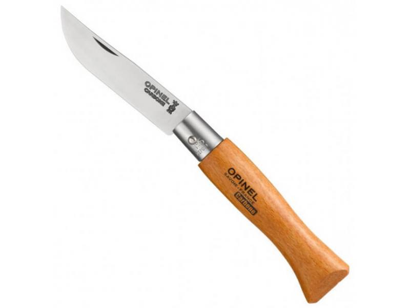 Нож туристический Opinel №5 Carbon нож складной opinel 3 vrn carbon tradition карбоновая сталь рукоять бук длина клинка 4 см