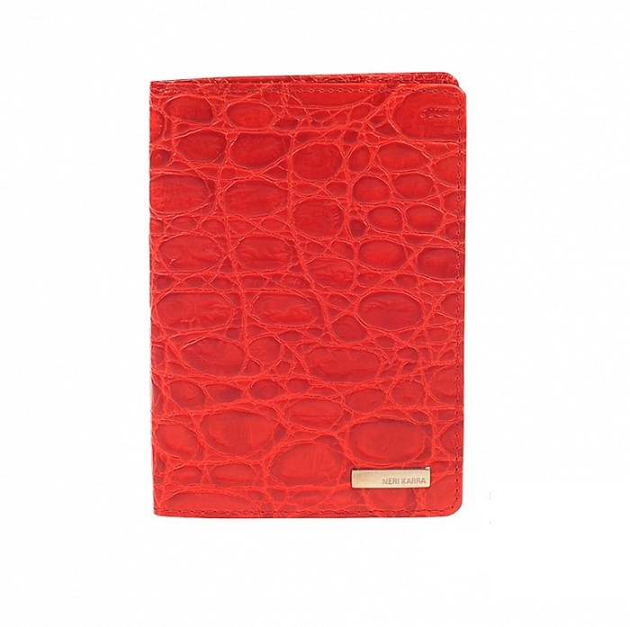 Обложка для паспорта Neri Karra .0039, красный обложка для паспорта женская neri karra цвет белый красный 01402 02 12 05