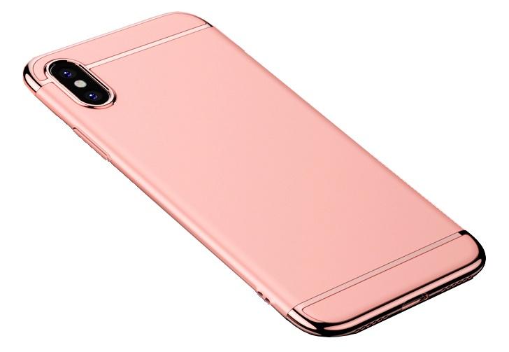 Чехол для сотового телефона Пластиковый для iPhone X (розовое золото), светло-розовый, золотой