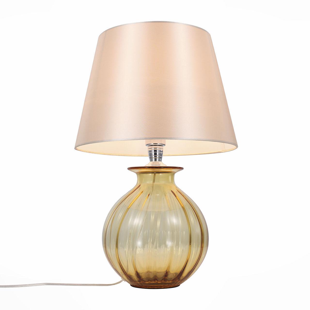 Настольный светильник ST Luce SL968.904.01, бежевый лампа настольная декоративная st luce calma sl968 604 01