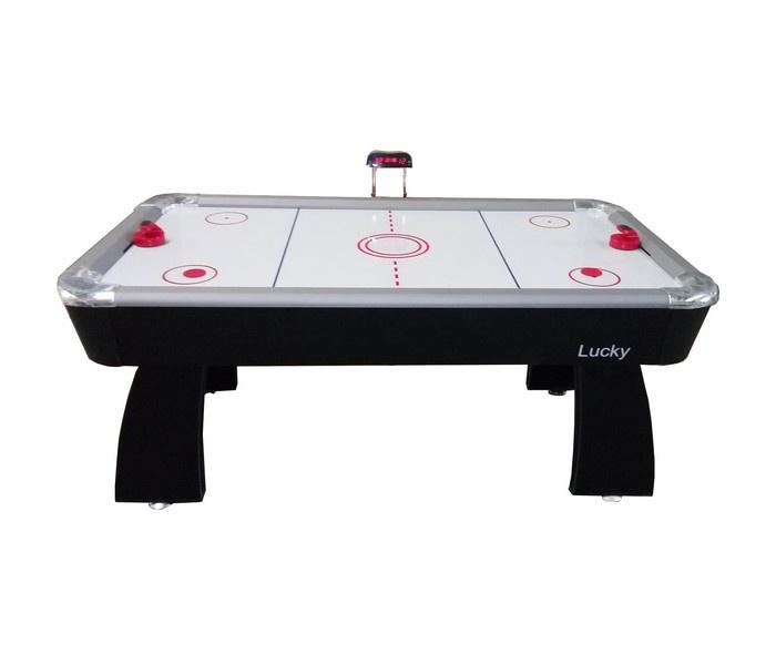 Игровой стол DFC Lucky 2 В 1 аэрохоккей/теннис, черный Dfc