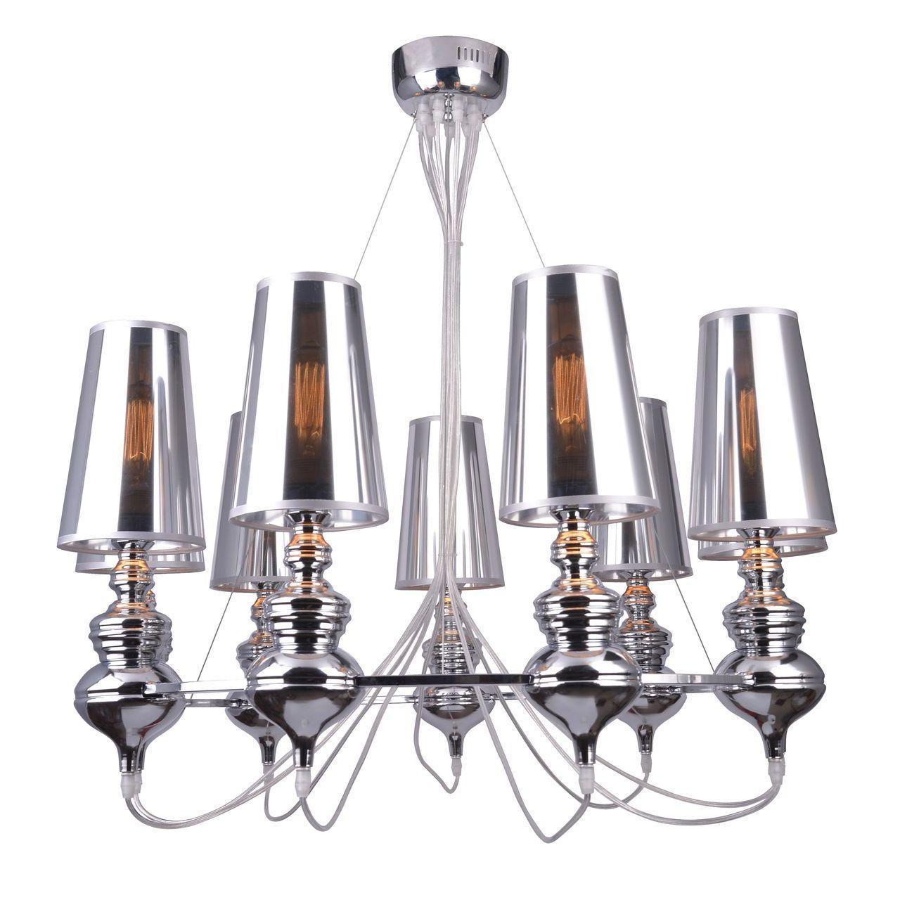 Подвесной светильник Arte Lamp A4280LM-9CC, серый цена