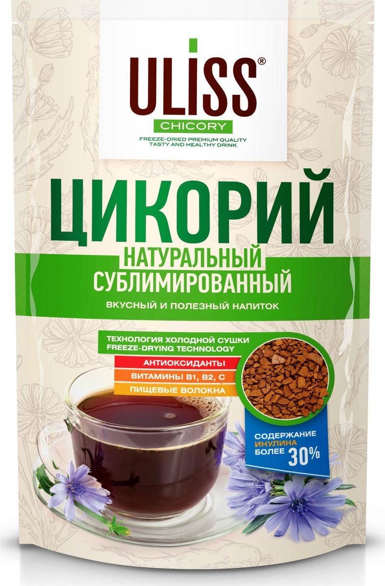Цикорий Uliss Chicory растворимый сублимированный, 75 г цикорий растворимый натуральный fitolain 100 г